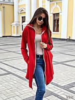 Женское худи серое черное красное универсальное, фото 1