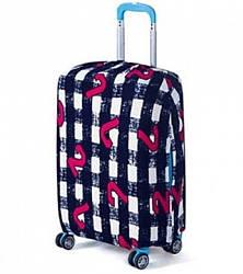 Защитный чехол для срежднего чемодана, Bonro. Размер L.  Черно-белый.