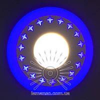 """LED панель Lemanso """"Звезды"""" 18+6W с синей подсветкой 1440Lm 4500K 175-265V / LM550, фото 1"""