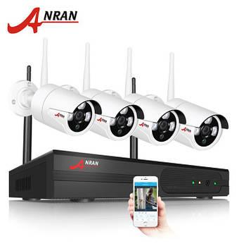 Комплект WiFi відеонагляду Anran 4сh (AR-K04W13-03NW) White
