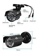 Комплект видеонаблюдения Hiseeu 2ch AHD-2MP 1080P Outdoor (2AHBB12), фото 5