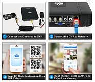 Комплект видеонаблюдения Hiseeu 2ch AHD-2MP 1080P Outdoor (2AHBB12), фото 9