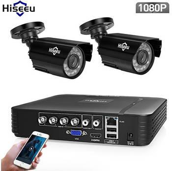 Комплект видеонаблюдения Hiseeu 2ch AHD-2MP 1080P Outdoor (2AHBB12)