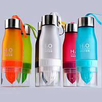 Бутылка-соковыжималка Olens H2O 650 мл 16041-62  цвет малиновый