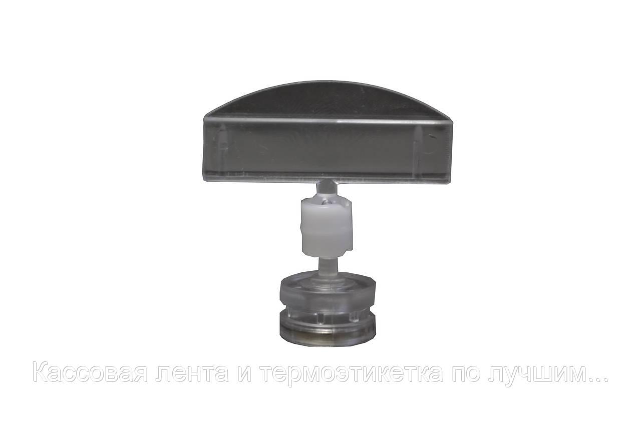 Універсальний цінникотримач 5 см на магнітній основі UaTec Прозорий