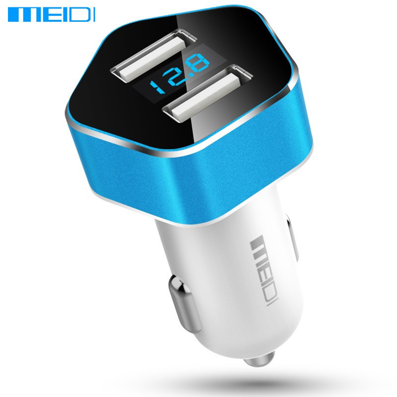 Автомобильное зарядное Meidi Dual USB Smart LED