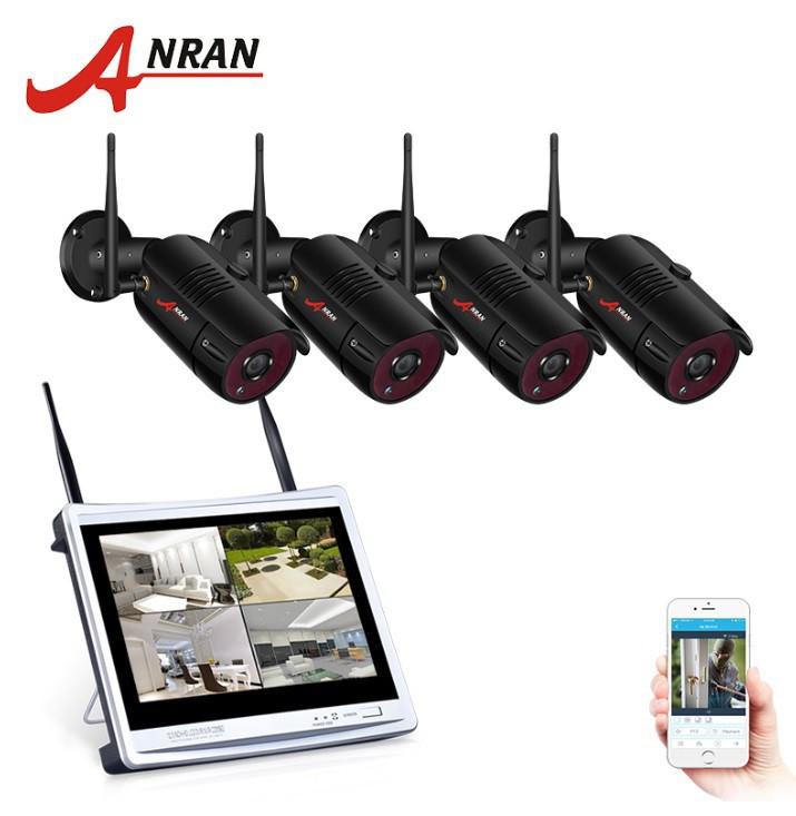 """Комплект WiFi видеонаблюдения Anran 4сh + 12"""" LCD (AR-B360)"""