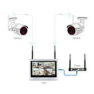 """Комплект WiFi видеонаблюдения Anran 4сh + 12"""" LCD (AR-B360), фото 2"""