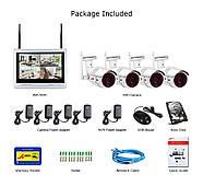 """Комплект WiFi видеонаблюдения Anran 4сh + 12"""" LCD (AR-B360), фото 7"""