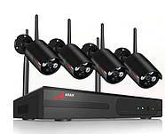 Комплект WiFi видеонаблюдения Anran 4сh (AR-K04W13-03NB), фото 2