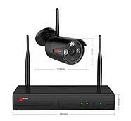 Комплект WiFi видеонаблюдения Anran 4сh (AR-K04W13-03NB), фото 4