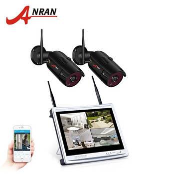 """Комплект WiFi видеонаблюдения Anran 2сh + 12"""" LCD (AR-W360)"""