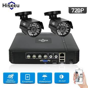 Комплект видеонаблюдения Hiseeu 2ch AHD-1MP 720P Outdoor (2AHBB10)
