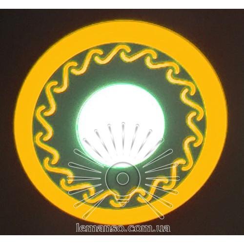 """LED панель Lemanso """"Завитки"""" 6+3W с жёлтой подсв. 540Lm 4500K / LM539"""