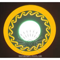 """LED панель Lemanso """"Завитки"""" 6+3W с жёлтой подсв. 540Lm 4500K / LM539, фото 1"""