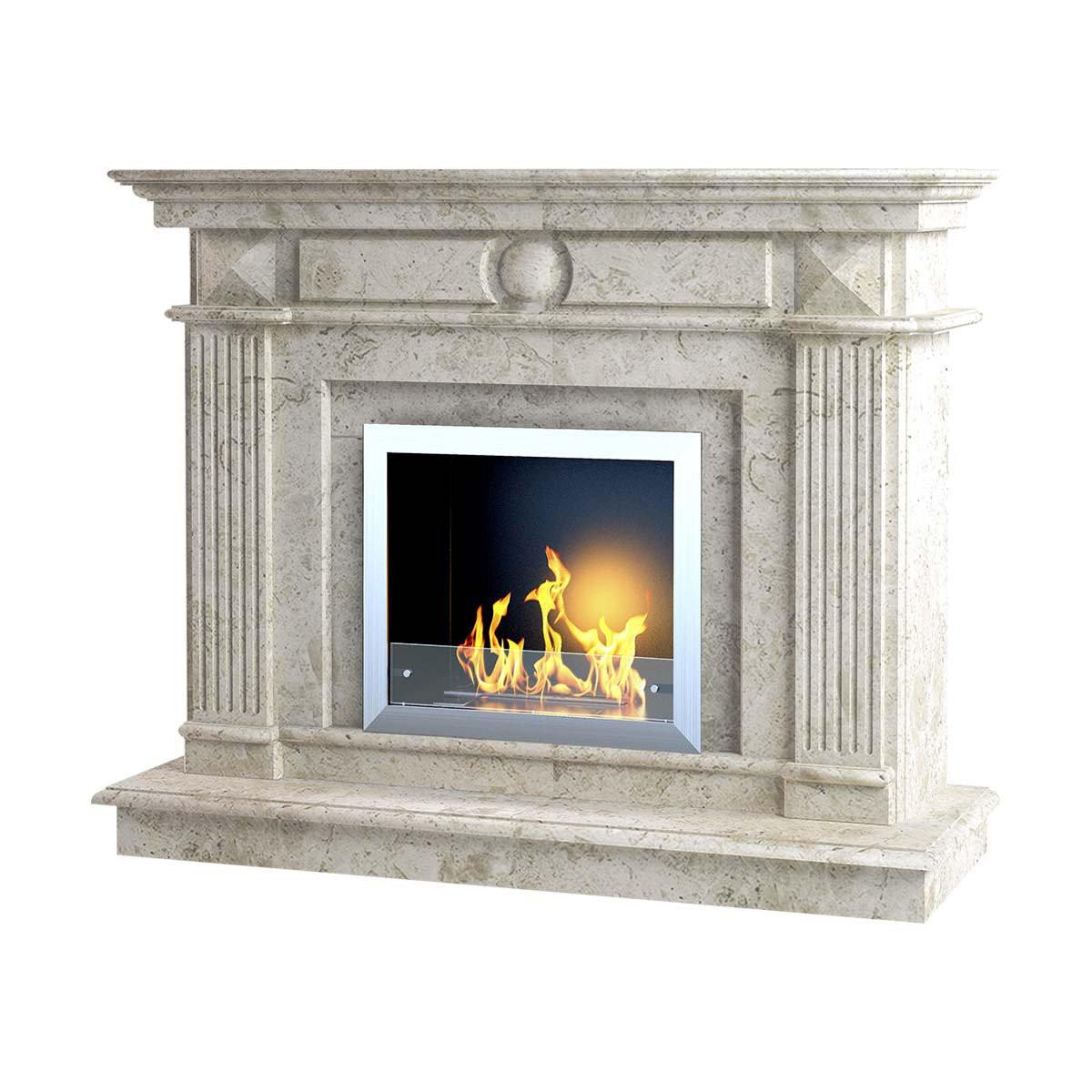 Каминный портал EMPIRE-E из мрамора Victoria Beige