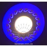 "LED панель Lemanso ""Завитки"" 3+3W с синей подсв. 350Lm 4500K / LM534, фото 1"