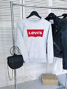 Жіночий демісезонний світшот сірий в стилі Levis