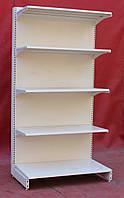 Пристенные (односторонние) стеллажи «Колумб» 200х100 см., кремово-белые, Б/у, фото 1