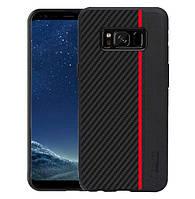 Чехол накладка Primo Cenmaso для Samsung Galaxy S8 Plus ( SM-G955 ) - Black&Red, фото 1