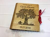 """Фотоальбом в деревянной обложке с гравировкой """"Дерев'яне весілля"""" (№4(2)) (дуб), фото 2"""