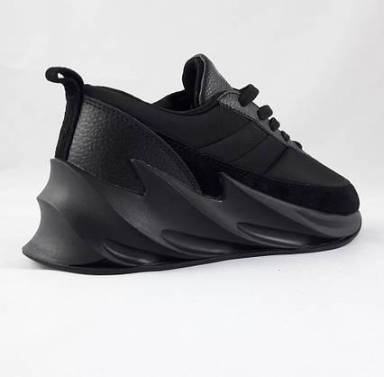 Кроссовки Adidas $harks Мужские Адидас Чёрные Акула (размеры: 41,42,43,44,45) Видео Обзор, фото 3