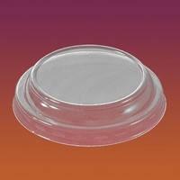 Крышка пластиковая прозрачная глухая  для стакану 71820 100 шт/уп