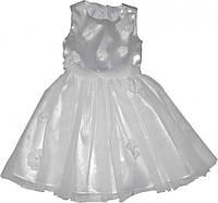 Платье Деньчик детское белое 116