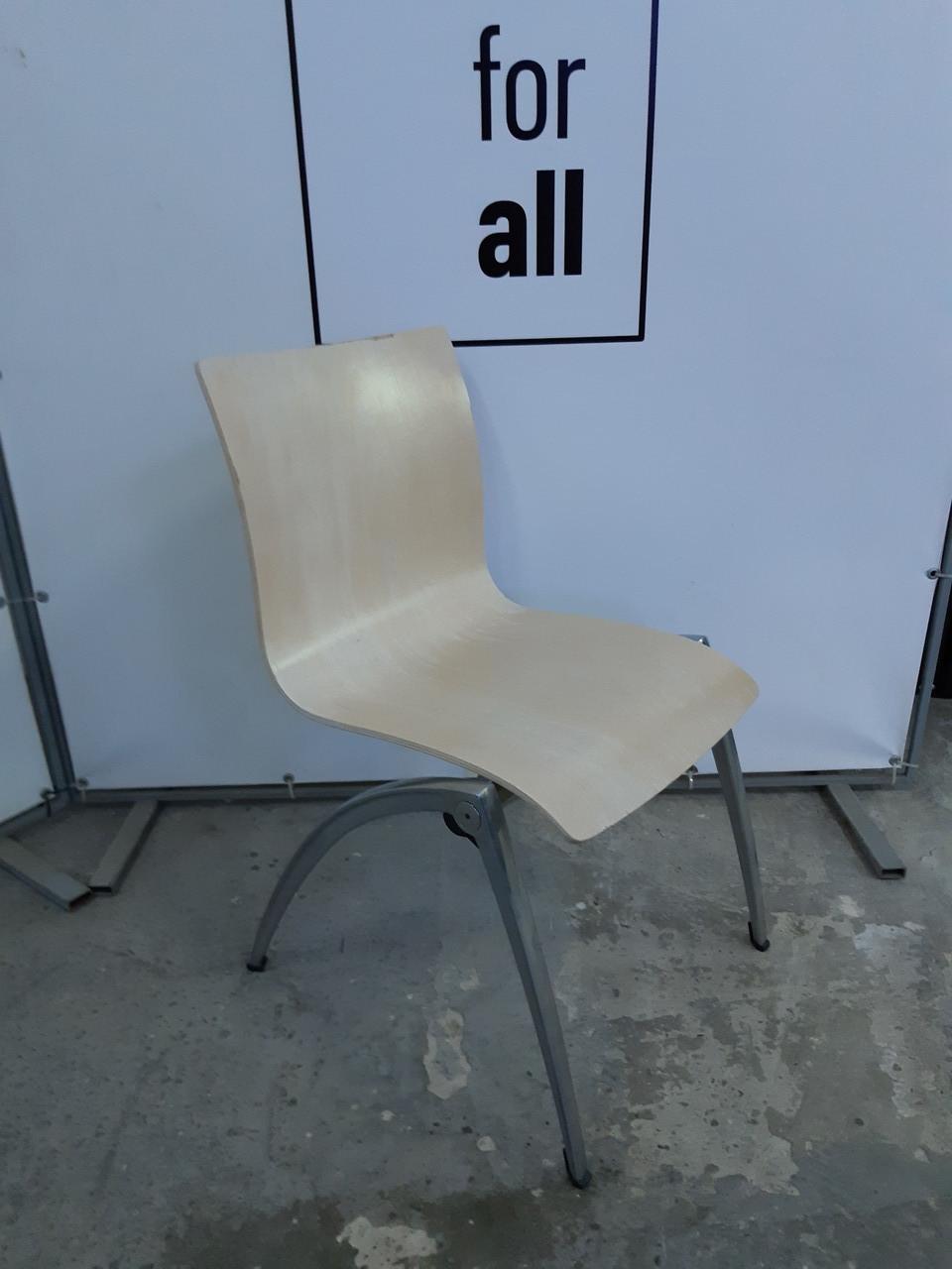 Крісло для кухні  фанерні з хромованими ногами