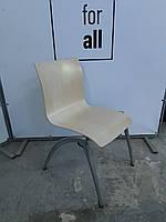 Крісло для кухні  фанерні з хромованими ногами, фото 1