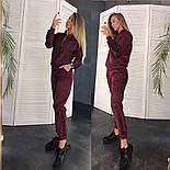 Женский стильный замшевый костюм на молнии (в расцветках), фото 4