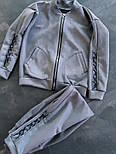 Женский стильный замшевый костюм на молнии (в расцветках), фото 3