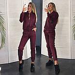 Женский стильный замшевый костюм на молнии (в расцветках), фото 5