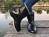 Женские резиновые  сапоги, полу сапоги с утеплителем черные, фото 3