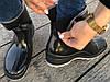 Женские резиновые  сапоги, полу сапоги с утеплителем черные, фото 4