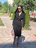 Женское платье-миди с поясом  (в расцветках), фото 2