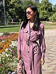 Женское платье-миди с поясом  (в расцветках), фото 5