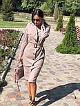 Женское платье-миди с поясом  (в расцветках), фото 7