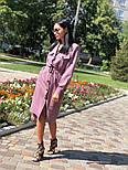 Женское платье-миди с поясом  (в расцветках), фото 9