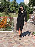 Женское платье-миди с поясом  (в расцветках), фото 10