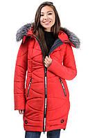"""Зимняя куртка """"Фокс"""" с мехом р42-56, фото 1"""