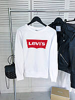 Женский демисезонный свитшот белый в стиле Levis, фото 1