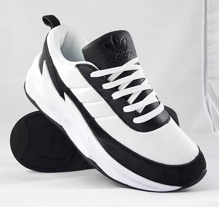 Кроссовки Adidas $harks Мужские Адидас Бело - Чёрные Акула (размеры: 41,42,,44) Видео Обзор, фото 3