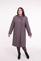 Женское зимнее пальто Л-593 коричневое