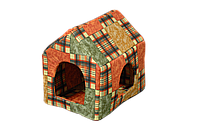 """Домик-лежак (лежанка) для кошек и собак Мур-Мяу """"Будочка"""" Коричневый"""