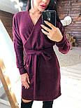 Женское платье из ангоры с поясом  (в расцветках), фото 3