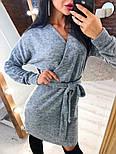 Женское платье из ангоры с поясом  (в расцветках), фото 6