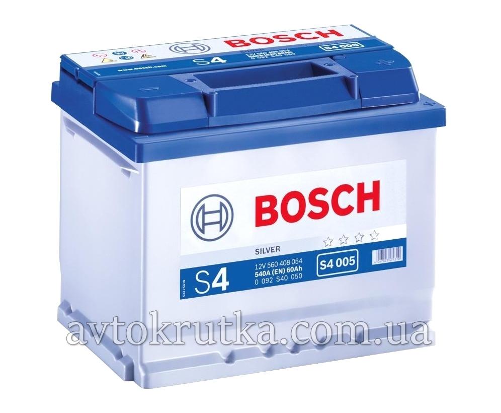 Аккумулятор Bosch S4 004 Silver 60Ah