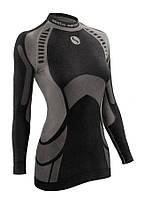 Термокофта женская спортивная Sesto Senso Active (original) зональная бесшовная, лонгслив, термобелье
