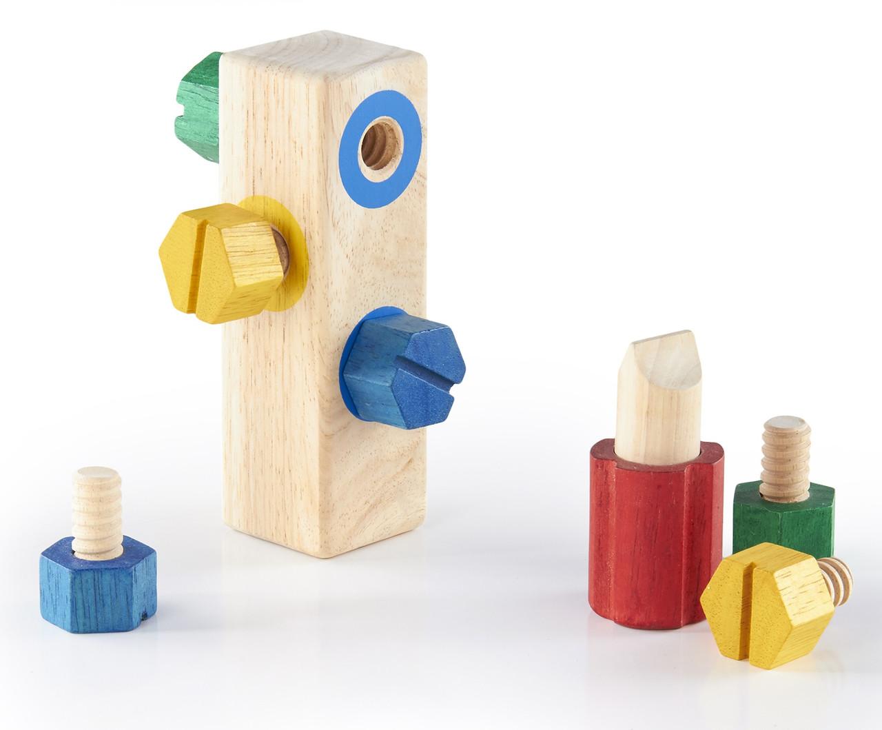 Игровой набор Блок с винтами Manipulatives Guidecraft (G2003)